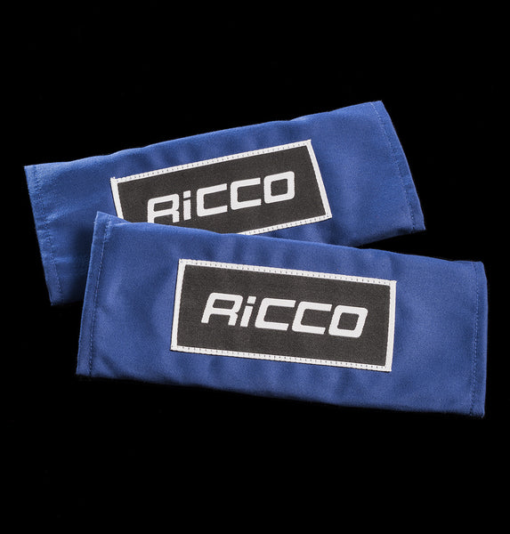 Blue rally seat belt harness pads 3""