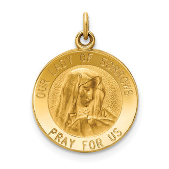 14k Our Lady of Sorrows Medal Charm