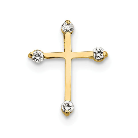 14k Madi K CZ Children's Cross Pendant