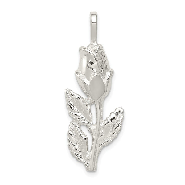 Sterling Silver Rose Bud Pendant