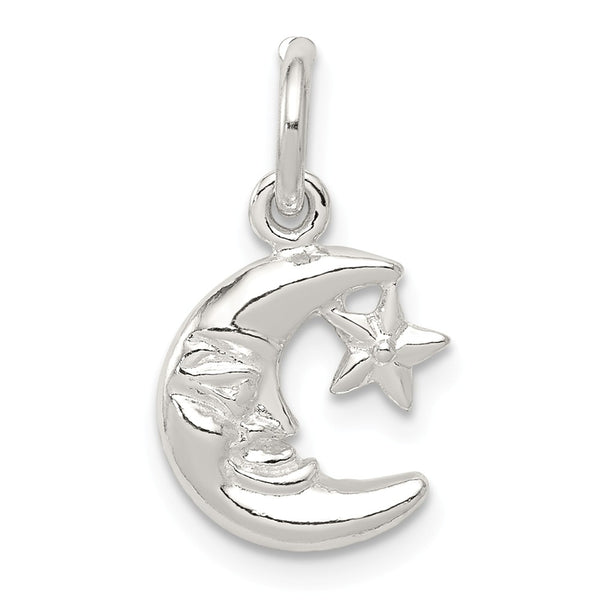Sterling Silver Moon & Star Charm