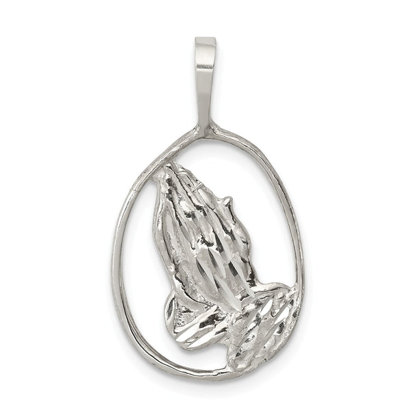 Sterling Silver Praying Hands Pendant