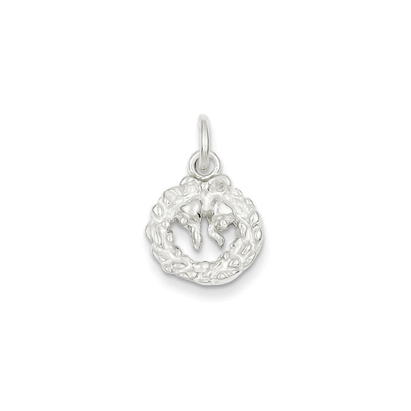 Sterling Silver Wreath Charm