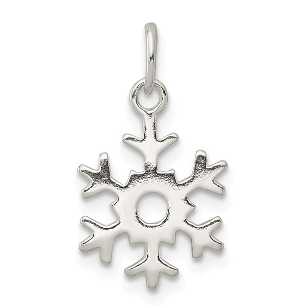 Sterling Silver Polished Snowflake Charm