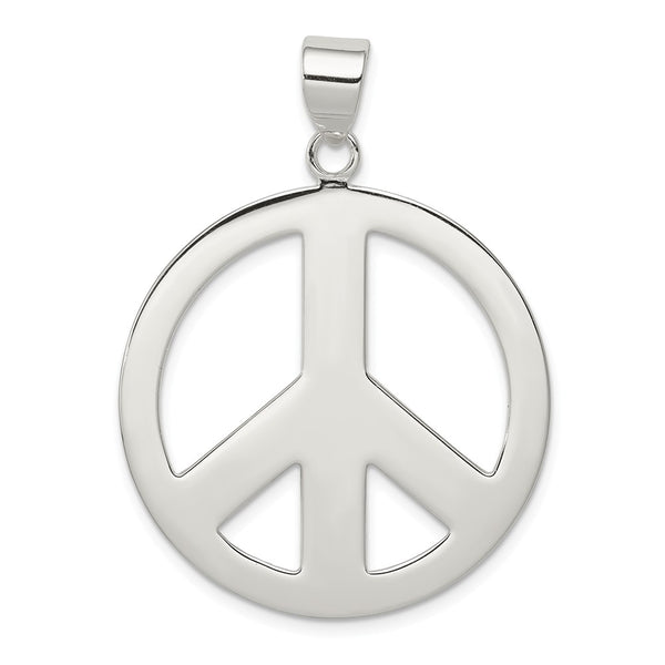 Sterling Silver Polished Peace Pendant