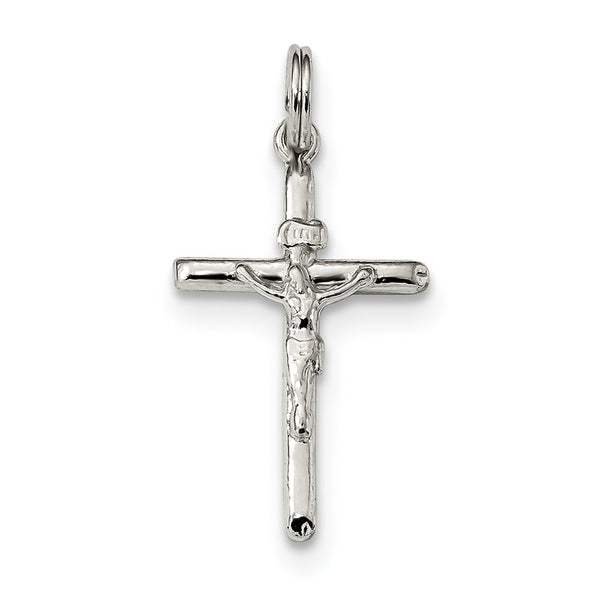 Sterling Silver Polished INRI Crucifix Charm