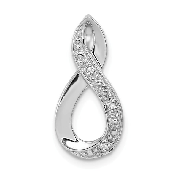 Sterling Silver Rhodium Diamond Figure-8 Pendant