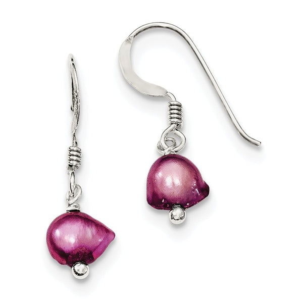 Sterling Silver Pink FW Cultured Pearl Earrings
