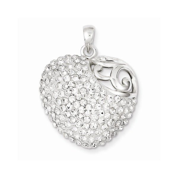 Sterling Silver Stellux Crystal Heart Pendant