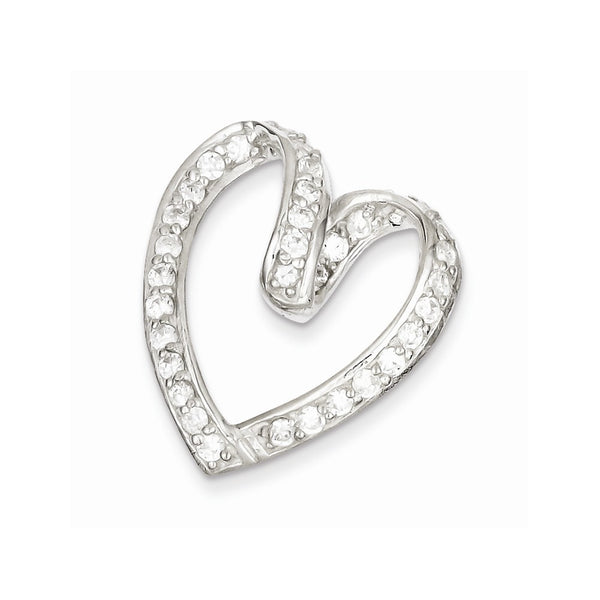 Sterling Silver With CZ Pendant