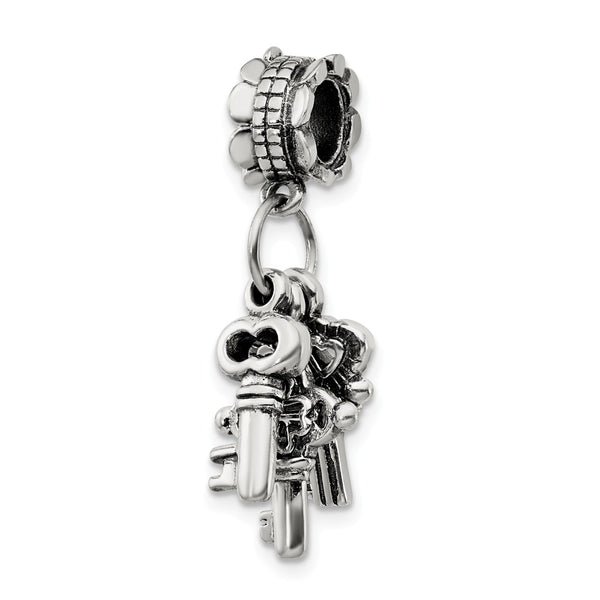 Sterling Silver Reflections Three Keys Dangle Bead