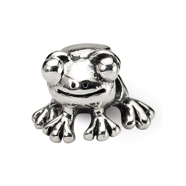 Sterling Silver Reflections Frog Bead