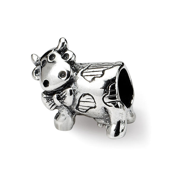 Sterling Silver Reflections Kids Cow w/ Bow Bead