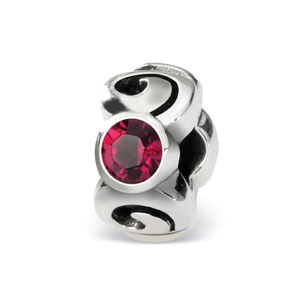 Sterling Silver Reflections July Swarovski Crystal Birthstone Bead