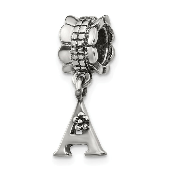 Sterling Silver Reflections Letter A Dangle Bead