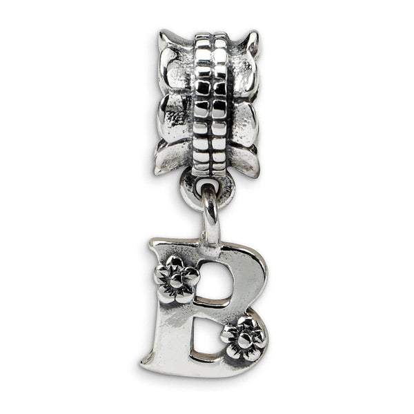 Sterling Silver Reflections Letter B Dangle Bead
