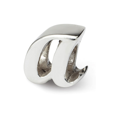 Sterling Silver Reflections Letter A Script Bead