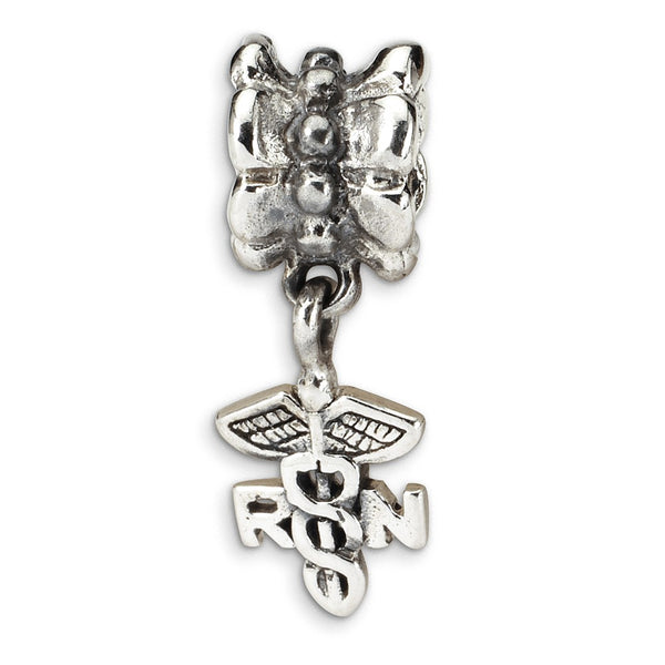 Sterling Silver Reflections Nurse Symbol Dangle Bead