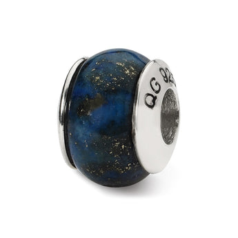 Sterling Silver Reflections Lapis Stone Bead