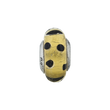 Sterling Silver Reflections Gold w/Black Dots Italian Murano Bead