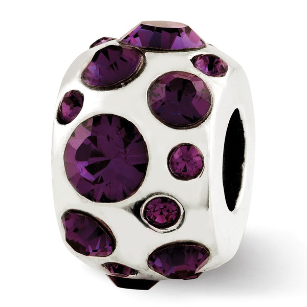 Sterling Silver Reflections February Swarovski Crystal Bead