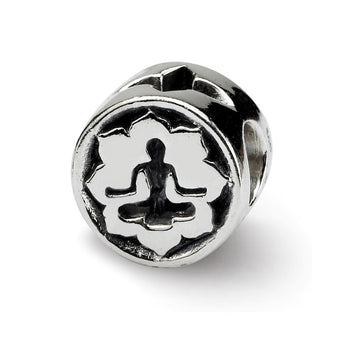 Sterling Silver Reflections Yoga Lotus Bead