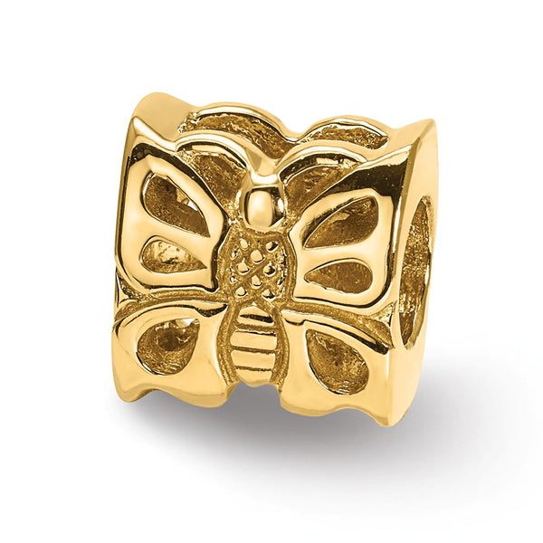 14k Reflections Butterfly Bead