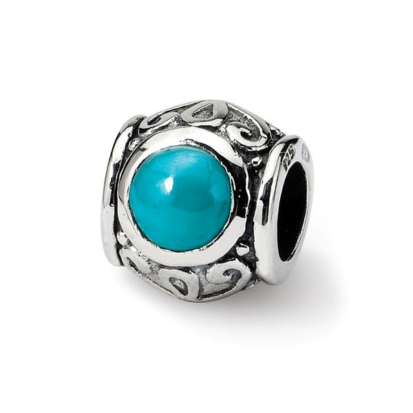 Sterling Silver Reflections Turquoise Bead