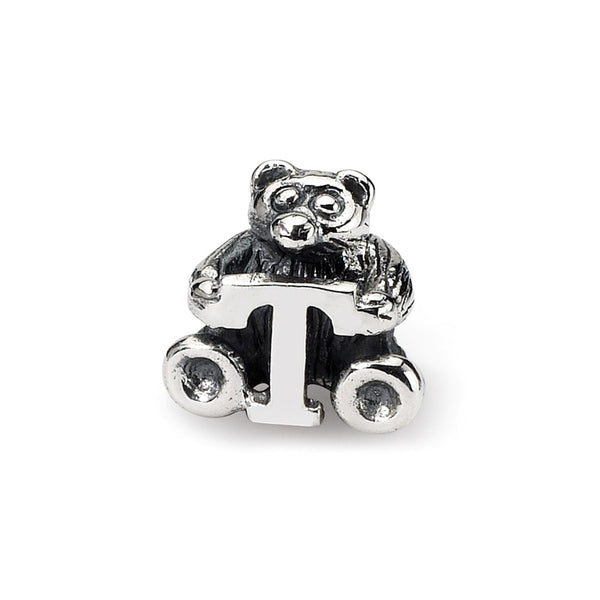 Sterling Silver Reflections Kids Letter T Bead