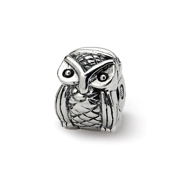 Sterling Silver Reflections Kids Owl Clip Bead