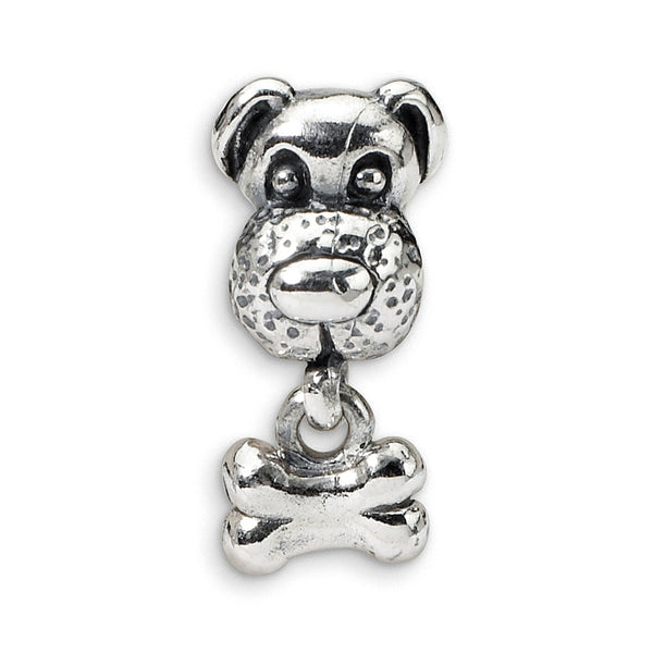 Sterling Silver Reflections Kids Dog & Bone Bead