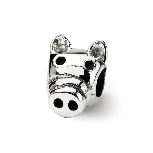 Sterling Silver Reflections Kids Pig Bead