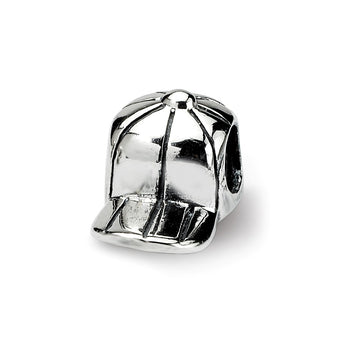 Sterling Silver Reflections Kids Baseball Cap Bead