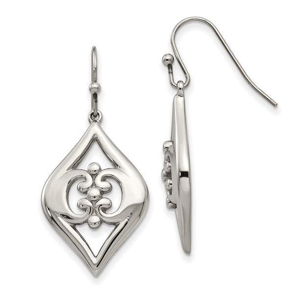 Stainless Steel Shepherd Hook Dangle Earrings