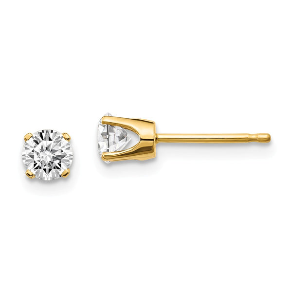 14ky .60ct. I2 K-L Diamond Stud Push-on Post Earrings