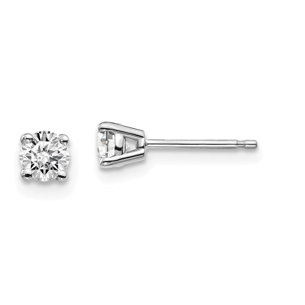 14kw .30ct I1 J-K Diamond Stud Push-on Post Earrings