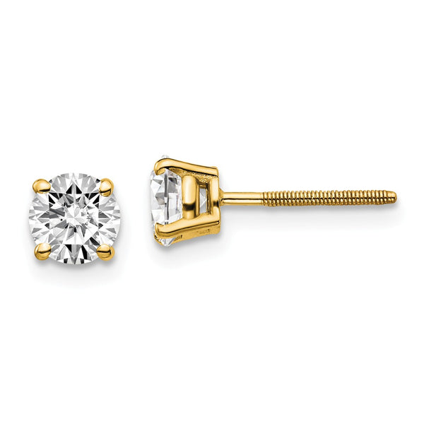 14ky 1.00ct. VS2/SI1 G-I Diamond Stud Thread on/off Post Earrings