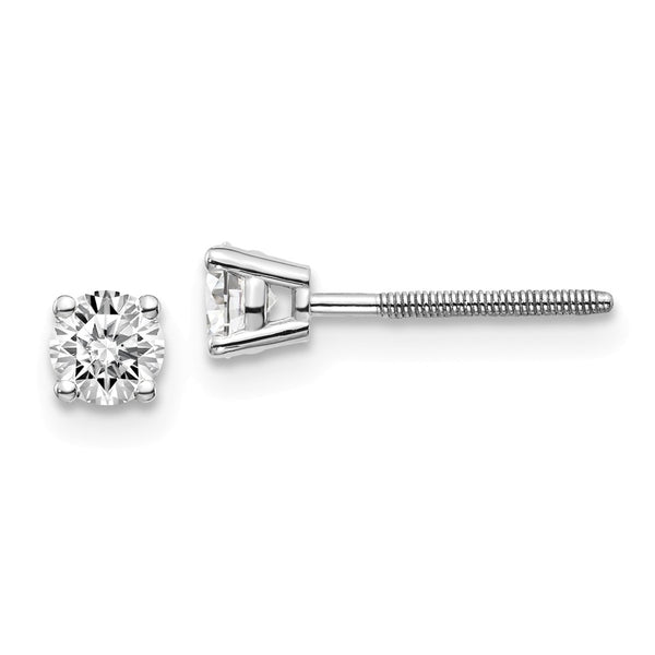 14kw .40ct SI3 G-I Diamond Stud Thread on/off Post Earrings
