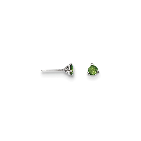 14k .25ct Green Diamond Stud Earrings