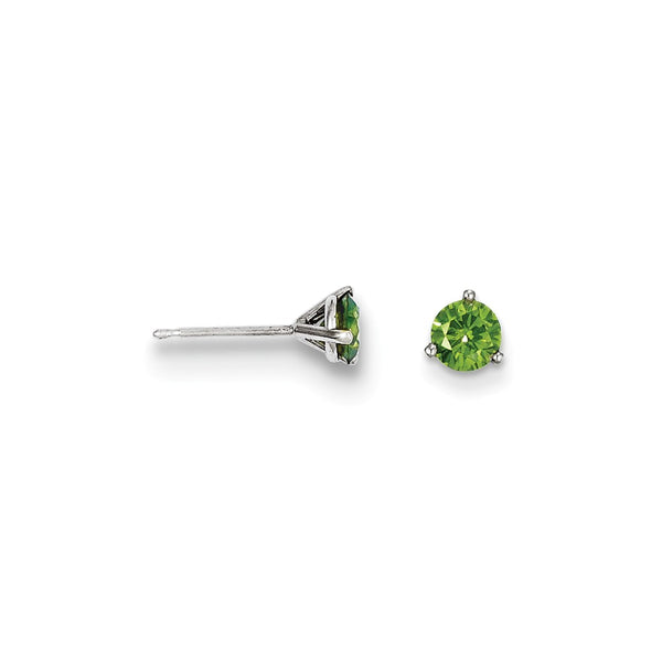 14k .75ct Green Diamond Stud Earrings