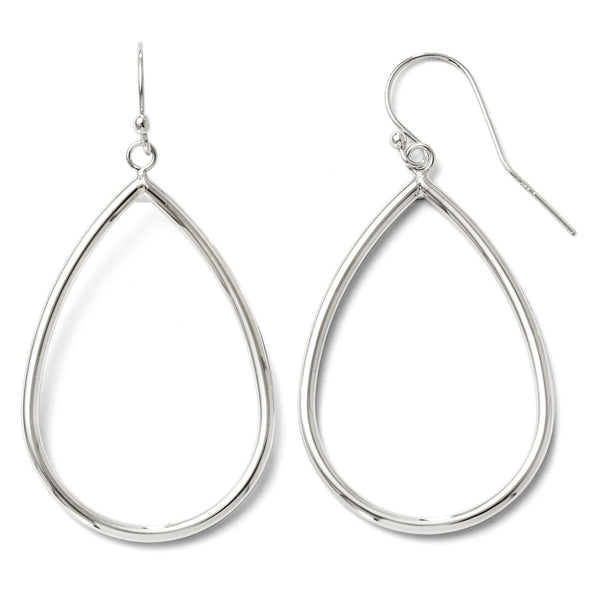 Leslie's 10K White Gold Shepherd Hook Dangle Earrings