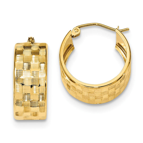 14k D/C Hoop Earrings