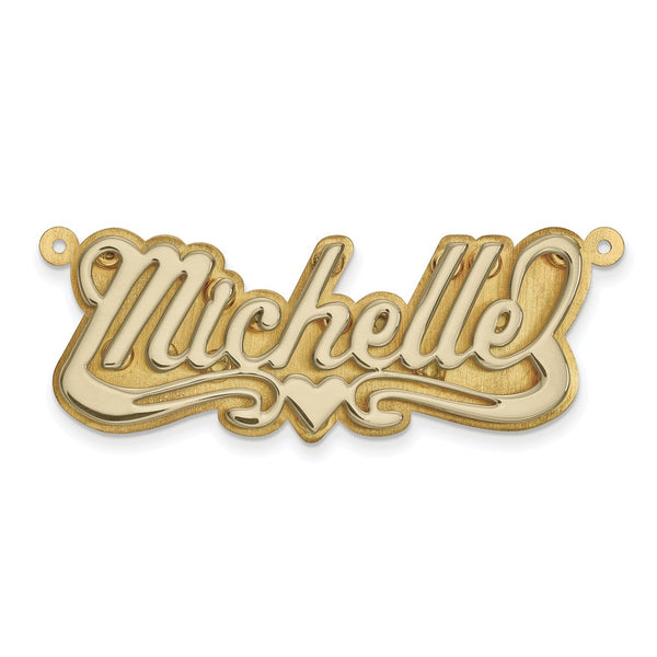 14k Two-tone Polished 3D Name Plate