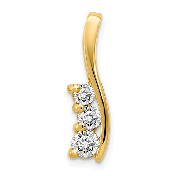 14k  3-Stone .41ct Diamond Pendant Mounting