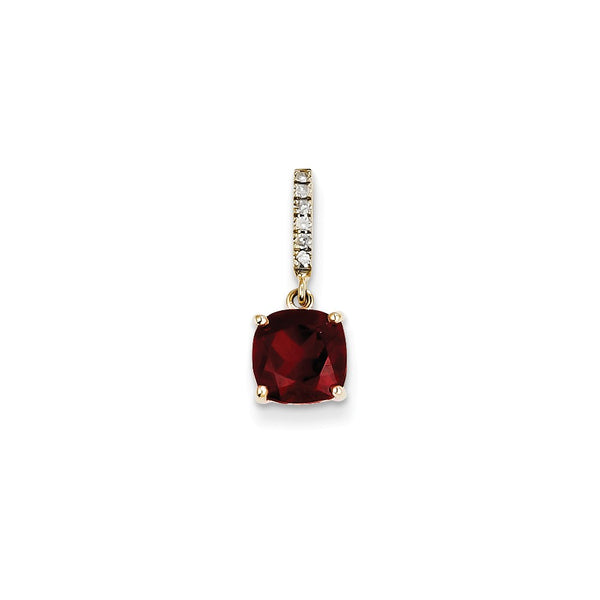 14k Diamond and Garnet Pendant