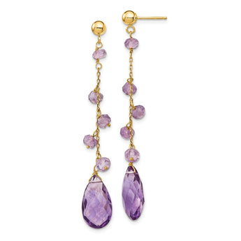 14k Amethyst Dangle Earrings