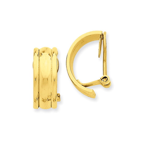 14k Fancy Non-pierced Earrings