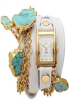 La Mer Collections Durango Wrap Watch - White
