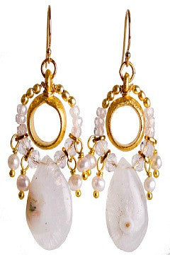 Sirocco Moonstone Earrings - Catherine Page Jewlery