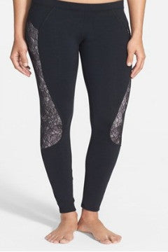 Solow Lace Inset Workout  Leggings - SALE